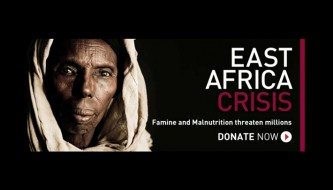 A screenshot from Human Relief Foundation's,'East Africa Appeal' 2011 promotional video