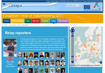 European Year of Volunteering Relay Reporters