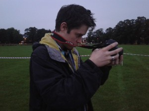 Mike setting up at the Gunpowder Plod shoot