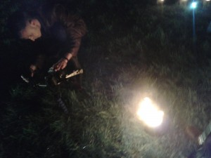 Jonathan setting up a shot at the Gunpowder Plod shoot
