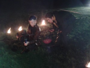 Mike and Jonathan filming at the Gunpowder Plod shoot